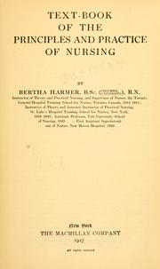 Cover of: Textbook of the principles and practice of nursing