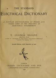 Cover of: The standard electrical dictionary