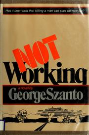 Cover of: Not working