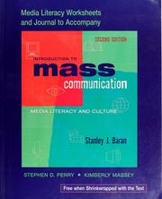 Cover of: Media literacy worksheets to accompany Introduction to mass communication