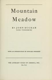 Cover of: Mountain meadow