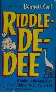 Cover of: Riddle-de-dee