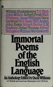 Cover of: Immortal poems of the English language