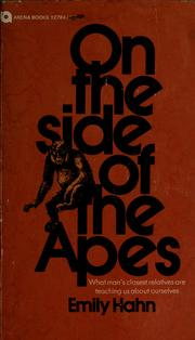 Cover of: On the side of the apes