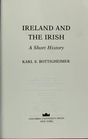 Cover of: Ireland and the Irish | Karl Sigmund Bottigheimer