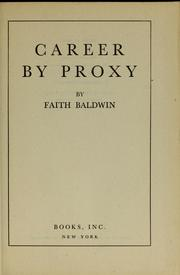 Cover of: Career by proxy
