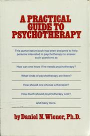 Cover of: A practical guide to psychotherapy