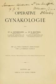 Cover of: Operative gynäkologie