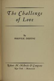 Cover of: The challenge of love | Warwick Deeping