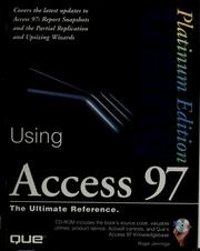Cover of: Using Access 97 | Roger Jennings