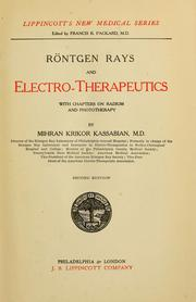 Cover of: Röntgen rays and electro-therapeutics | Mihran Krikor Kassabian