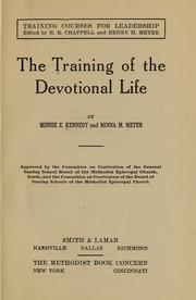 Cover of: The training of the devotional life