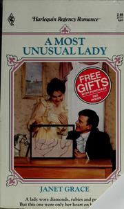 Cover of: A most unusual lady
