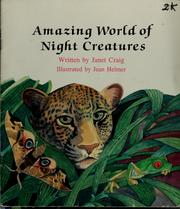 Cover of: Amazing World of Night Creatures (Learn-About Books)