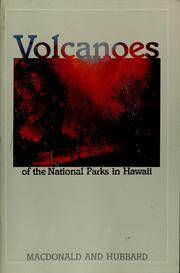 Cover of: Volcanoes of the national parks in Hawaii