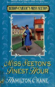 Cover of: Miss Seeton's finest hour