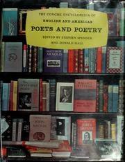 Cover of: The concise encyclopedia of English and American poets and poetry by Spender, Stephen