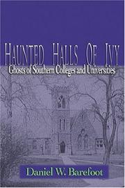 Cover of: Haunted Halls of Ivy | Daniel W. Barefoot