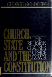Cover of: Church, state, and the Constitution
