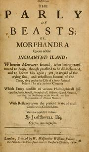 Cover of: The parly of beasts, or, Morphandra Queen of the Inchanted Iland