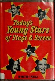 Cover of: Today's young stars of stage and screen