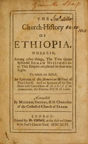 Cover of: The church history of Ethiopia