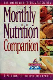 Cover of: Monthly nutrition companion