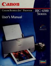 Cover of: Canon color bubble jet printer BJC-1000 series | Kyanon Kabushiki Kaisha