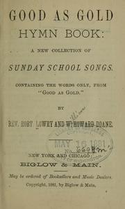 Cover of: Good as gold hymn book