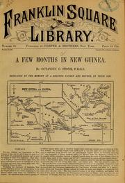 Cover of: A few months in New Guinea | Octavius C. Stone
