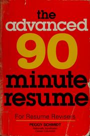 Cover of: The advanced 90-minute resume