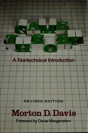 Cover of: Game theory by Morton D. Davis