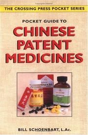 Cover of: Pocket guide to Chinese patent medicines