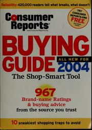 Consumer reports buying guide, 2004