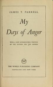Cover of: My days of anger