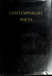 Cover of: Contemporary poets of the English language. | Rosalie Murphy