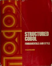 Cover of: Structured COBOL | Tyler Welburn