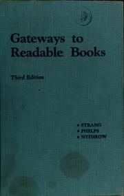 Cover of: Gateways to readable books | Ruth May Strang