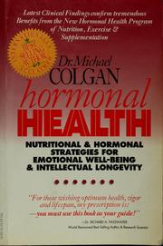 Cover of: Hormonal health