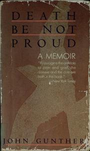 Cover of: Death be not proud