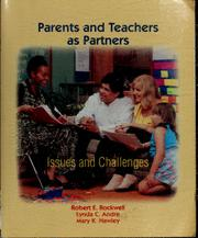 Cover of: Parents and teachers as partners : issues and challenges