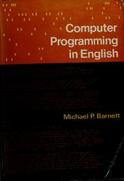 Cover of: Computer programming in English by Michael P. Barnett