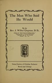 Cover of: The man who said he would