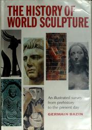 Cover of: The history of world sculpture