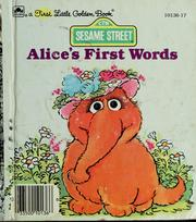 Cover of: Alice's first words