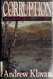 Cover of: Corruption