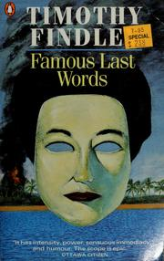 Cover of: Famous last words | Timothy Findley