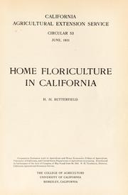 Cover of: Home floriculture in California