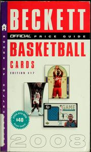 Cover of: The official 2008 price guide to basketball cards