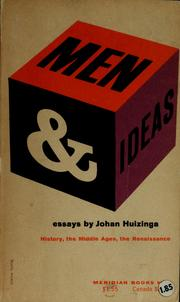 Cover of: Men and ideas